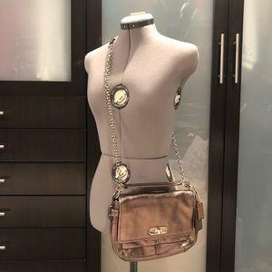 Pewter Metallic Convertible Crossbody Shoulder Bag